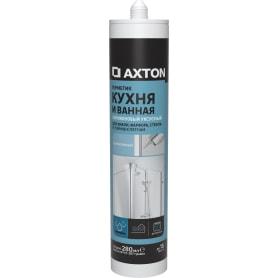 Герметик уксусный для кухни и ванной Axton бесцветный 280 мл