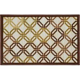 Коврик «Стелла» 104012, 50х80 см, нейлон, цвет коричневый