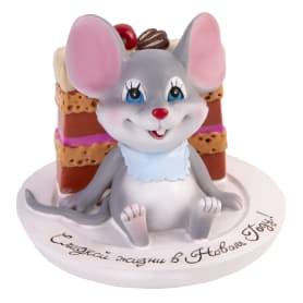 Фигурка «Мышь и тортик» 10 см