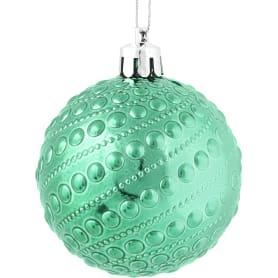 Набор ёлочных шаров 6 см, цвет зелёный, 6 шт.