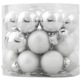 Набор ёлочных шаров, 2.5 см, стекло, цвет серебряный, 24 шт.