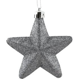 Набор ёлочных украшений «Звезда», 8 см, цвет серебряный, 3 шт.