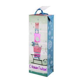 Пакет подарочный «Подарки» 13x35 см