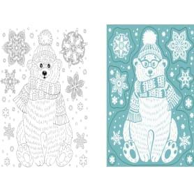 Наклейка для окна «Снежный мишка» 16x18 см