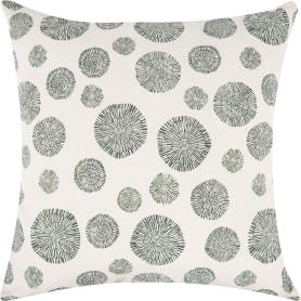 Подушка «Амазонка» 50x50 см, цвет белый/зелёный