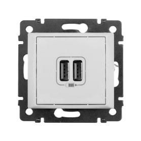 USB розетка Legrand, 2 разъёма, цвет белый