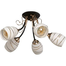 Люстра потолочная Camila 1112, 5 ламп, 15 м², цвет чёрный