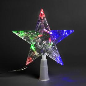 Электрогирлянда светодиодная «Звезда на ёлку» для дома 10 ламп 17 см