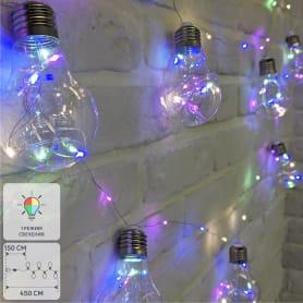 Электрогирлянда светодиодная «Лампочки» для дома 100 ламп 3 м