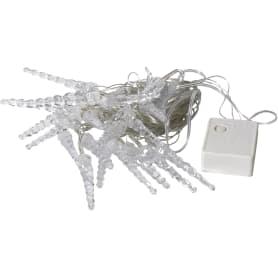 Электрогирлянда светодиодная «Сосульки» для дома 20 ламп, цвет мультиколор