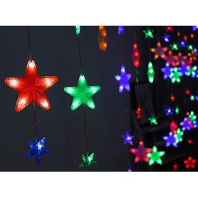 Электрогирлянда светодиодная «Занавес» для дома 136 ламп 2.5x1 м, цвет мультиколор