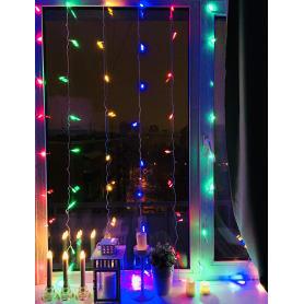 Электрогирлянда светодиодная «Занавес» для улицы 40 ламп 2x2 м, цвет мультиколор