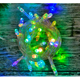 Электрогирлянда светодиодная для дома 50 ламп, цвет мультиколор