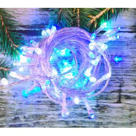 Электрогирлянда светодиодная для дома 50 ламп, цвет холодный белый