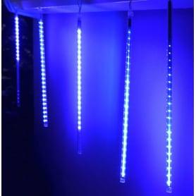 Электрогирлянда светодиодная «Сосульки» для дома 8 ламп, цвет синий
