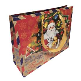 Пакет подарочный крафтовый 18x23 см