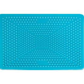 Коврик для ванной комнаты противоскользящий 40х60 см цвет голубой