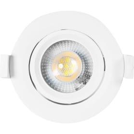 Светильник точечный светодиодный встраиваемый KL LED 22A-5 90 мм, 4 м², белый свет, цвет белый
