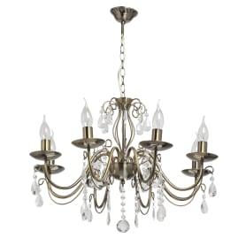Люстра хрустальная подвесная «Аврора», 8 ламп, 24 м², цвет бронза