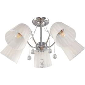 Люстра потолочная «Лацио», 5 ламп, 15 м², цвет белый