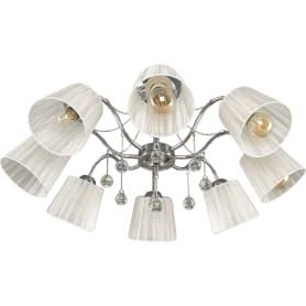 Люстра потолочная «Лацио», 8 ламп, 24 м², цвет белый