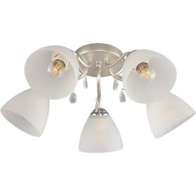 Люстра потолочная «Нежность», 5 ламп, 10 м², цвет белый