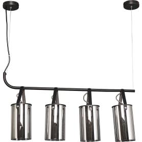 Люстра подвесная «Тетро», 4 лампы, 8 м², цвет чёрный