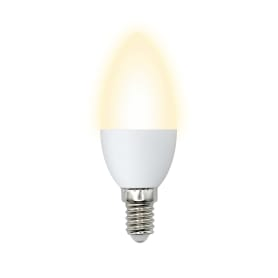 Лампа светодиодная Volpe Norma E14 220 В 7 Вт свеча 600 лм, тёплый белый свет