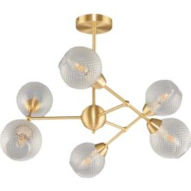 Люстра подвесная Everly 3752/6C, 6 ламп, 16 м², цвет матовое золото