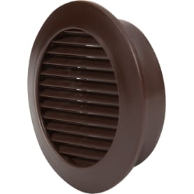 Решёта дверная вентиляционная D58 мм, цвет коричневый