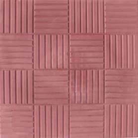 Плитка тротуарная «Сетка», 300х300х30 мм, цвет красный