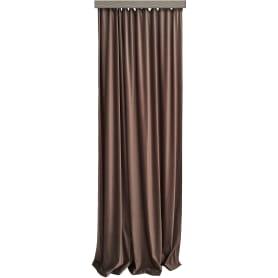 Штора на ленте «Вельвет», 160x260 см, однотон, цвет шоколадный