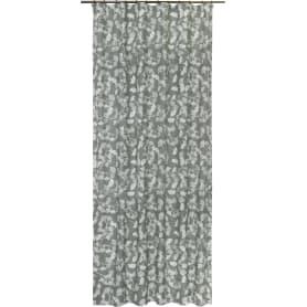 Штора на ленте «Цветочная эссенция», 155х270 см, цветы, цвет серый