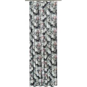 Штора на ленте «Акварель», 160х260 см, цветы, цвет серый