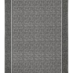 Дорожка ковровая «Петчворк 90/22», 1 м, цвет серый