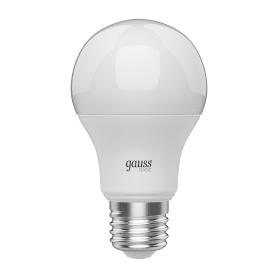 Лампа светодиодная Gauss Basic E27 220 В 6.5 Вт груша 470 лм, тёплый белый свет