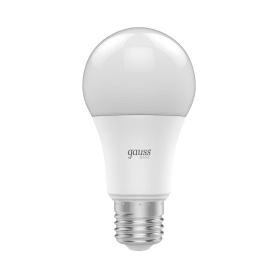 Лампа светодиодная Gauss A60 E27 220 В 13.5 Вт груша 1250 лм, тёплый белый свет