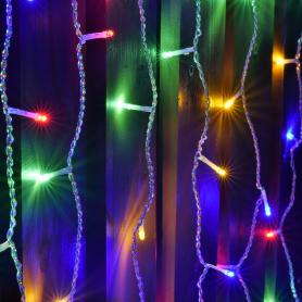 Электрогирлянда светодиодная «Занавес» для улицы 96 ламп 2 м, цвет мультиколор