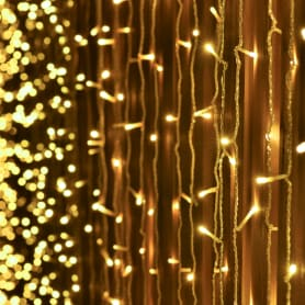 Электрогирлянда светодиодная «Занавес» для улицы 96 ламп 1.2 м, цвет тёплый белый