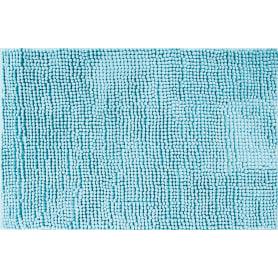 Коврик для ванной комнаты Merci 45х70 см цвет тёмно-голубой
