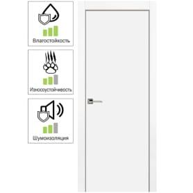 Дверь межкомнатная Гладкая глухая эмаль цвет белый 80x200 см (с замком в комплекте)