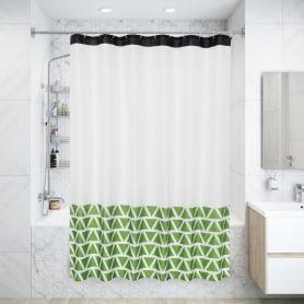 Штора для ванны Валенди с люверсами 180х200 см, полиэстер, цвет зелёный