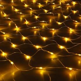 Электрогирлянда светодиодная «Сетка» для дома 96 ламп 1.5x1.5 м, цвет жёлтый