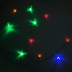 Электрогирлянда светодиодная «Шнур» для дома 100 ламп 10 м, цвет мультиколор