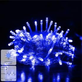 Электрогирлянда светодиодная «Шнур» для дома 100 ламп 10 м, цвет синий