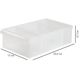 Контейнер Rolly 15x26.6x8.7 см 2.65 л, пластик, цвет прозрачный