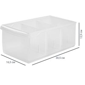 Контейнер Rolly 16.5x30.5x12.9 см 5 л, пластик, цвет прозрачный