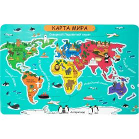 Коврик настольный «Детский мир», 38x58 см, полипропилен