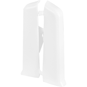 Заглушка для плинтуса левая и правая «Белый» 80 мм, 2 шт.