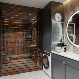 Плитка зеркальная Mirox 3G прямоугольная 20x30 см